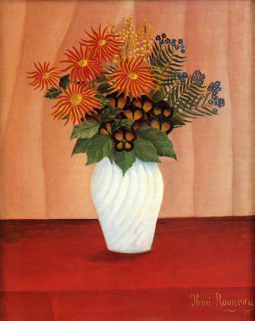 Bouquet of Flowers - Henri Rousseau