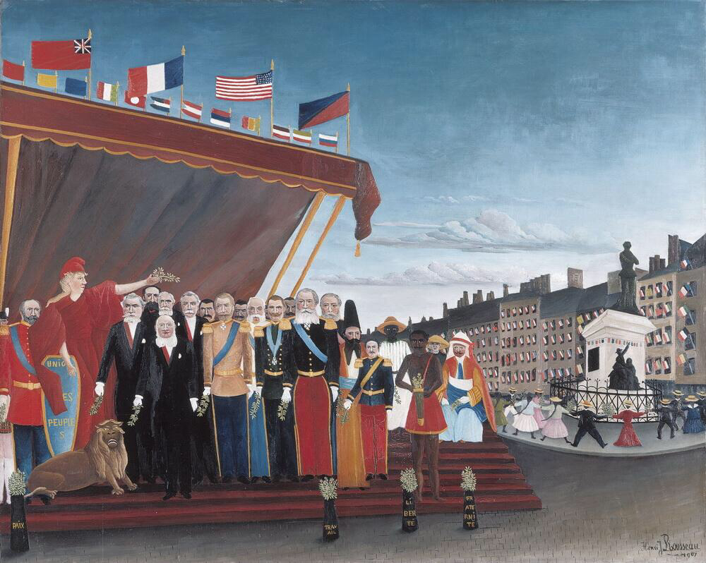 The Representatives of Foreign Powers Coming to Greet the Republic as a Sign of Peace - Henri Rousseau