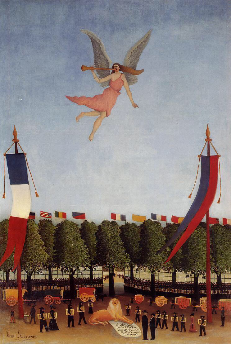 Liberty Inviting Artists - Henri Rousseau