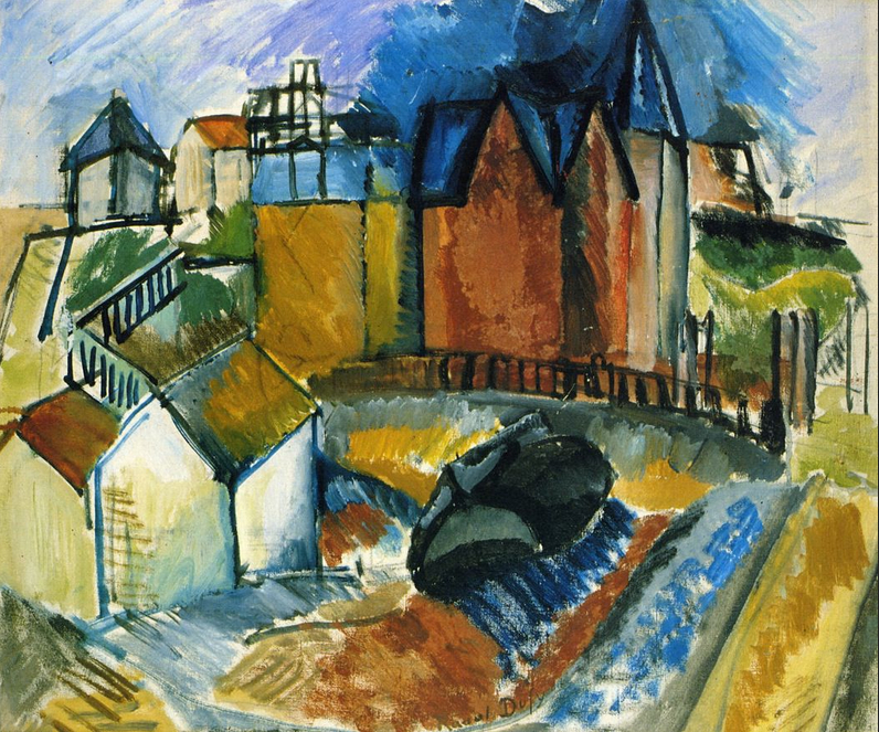 The Beach at Havre - Raoul Dufy