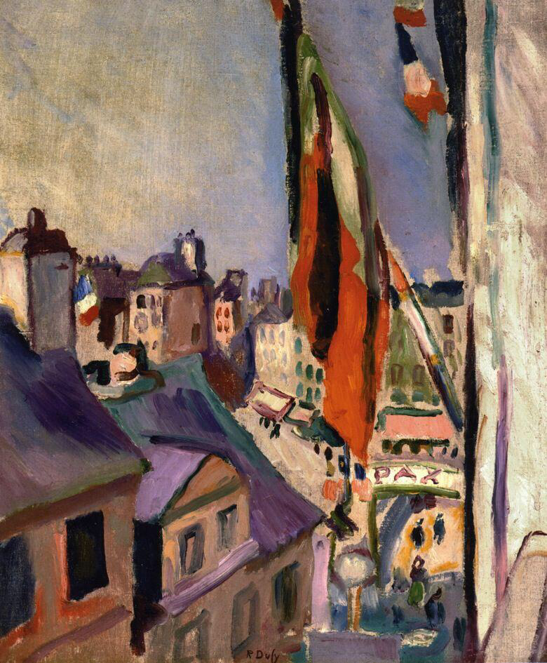 Flag Decorated Street - Raoul Dufy