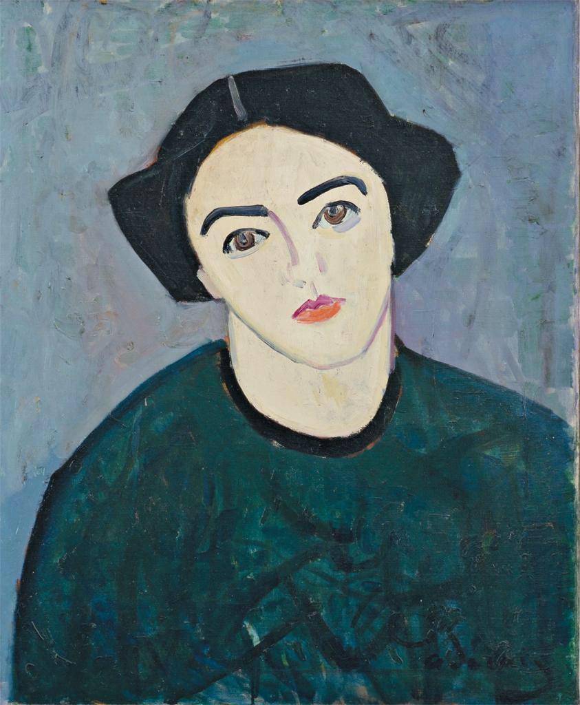 Madame Derain in Green - Andre Derain