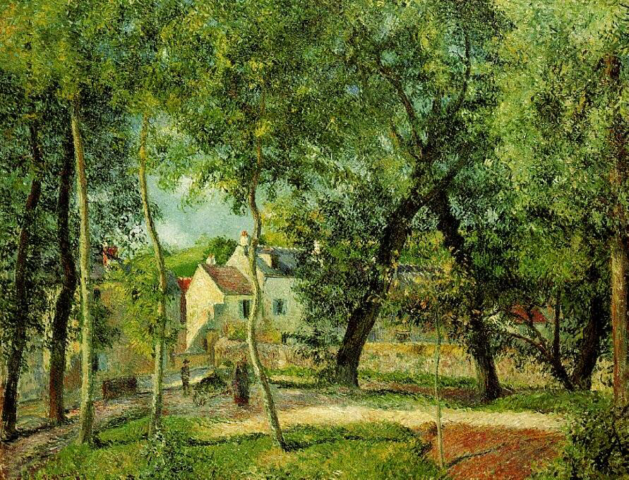 Landscape At Osny Near Watering - Camille Pissarro