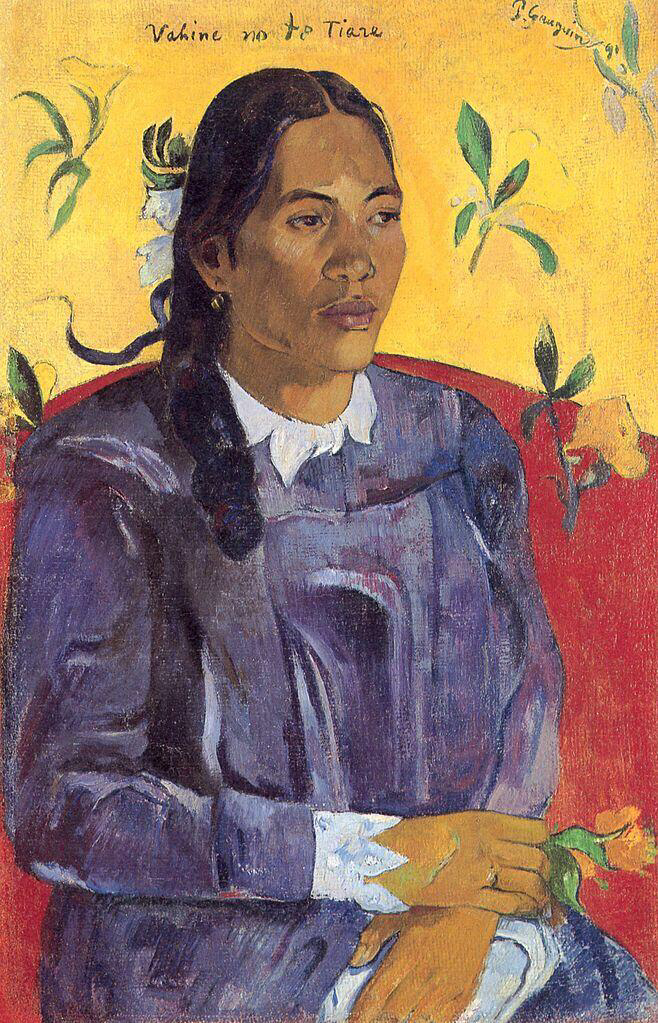 Woman with a Flower - Paul Gauguin