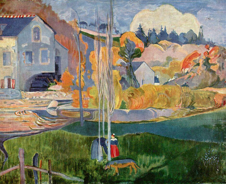 Watermill in Pont-Aven - Paul Gauguin