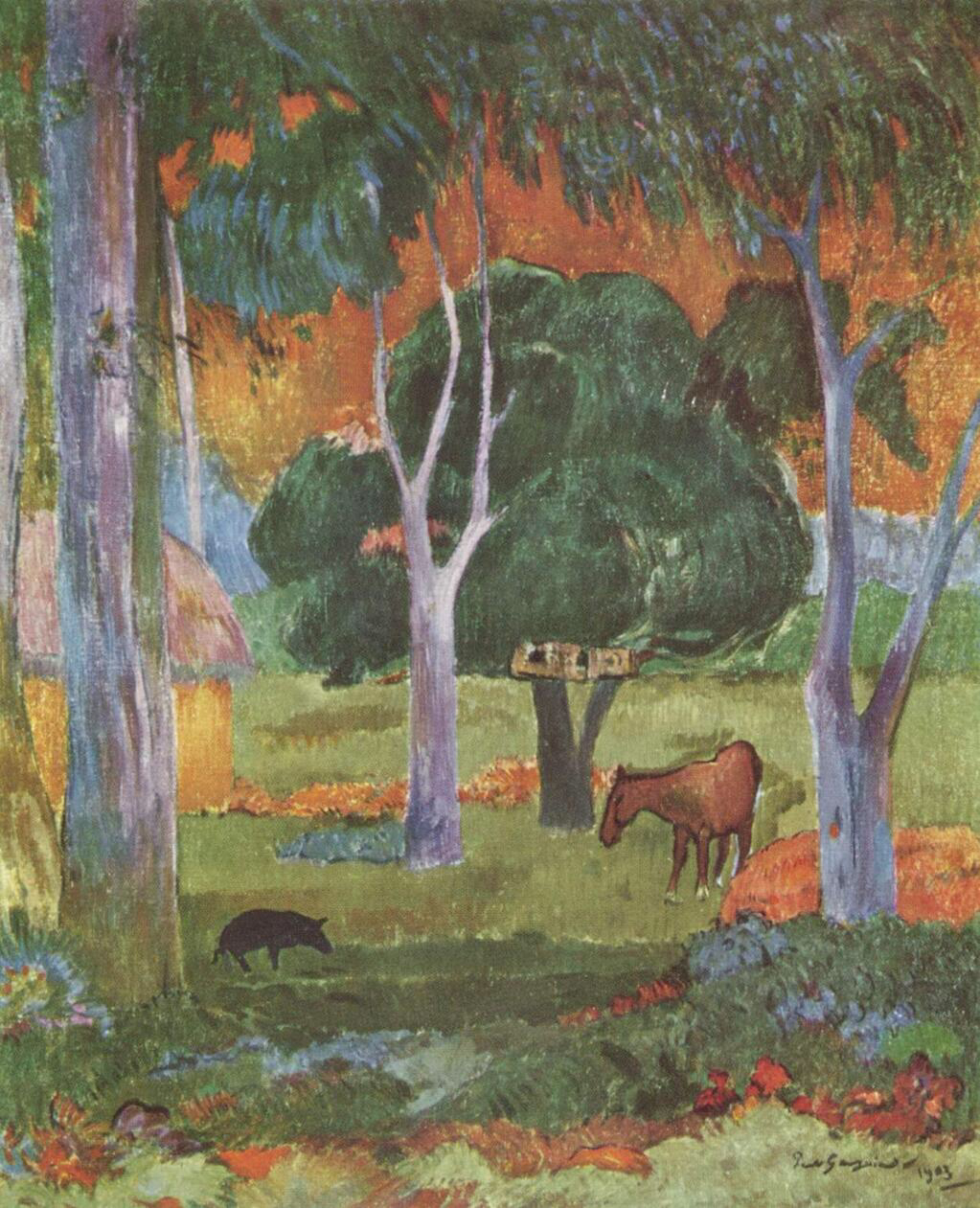 Landscape on La Dominique - Paul Gauguin