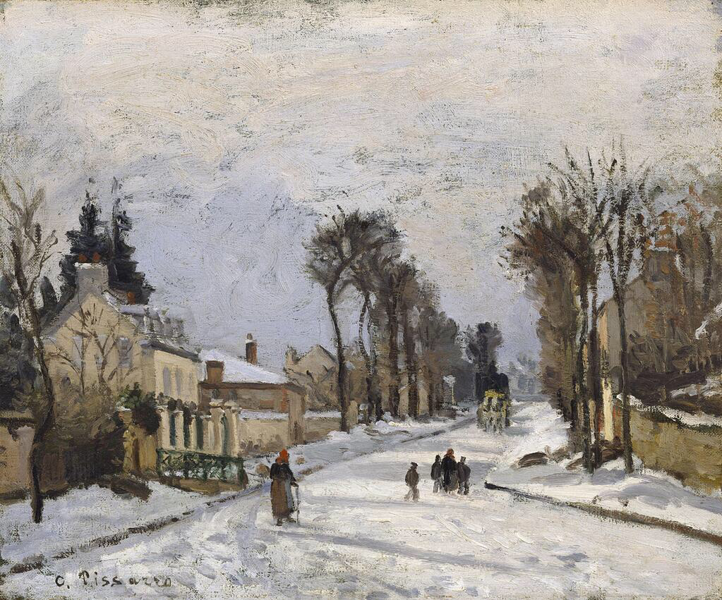 Road to Versailles at Louveciennes - Camille Pissarro