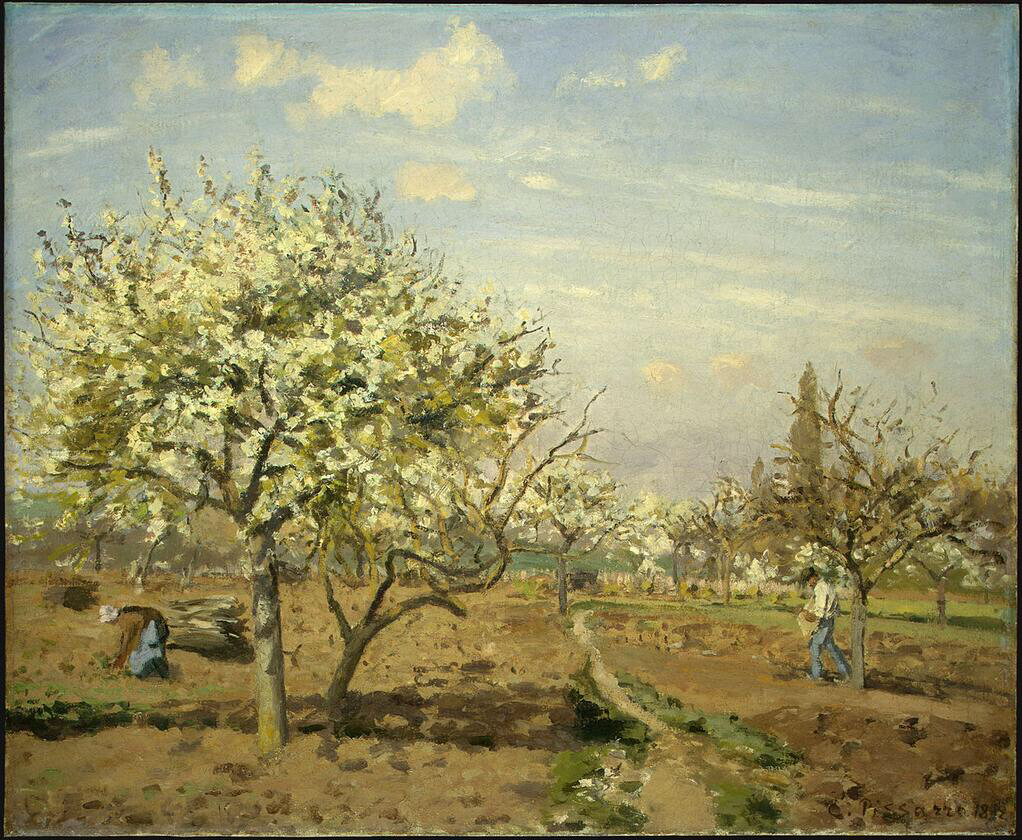 Orchard in Bloom, Louveciennes - Camille Pissarro