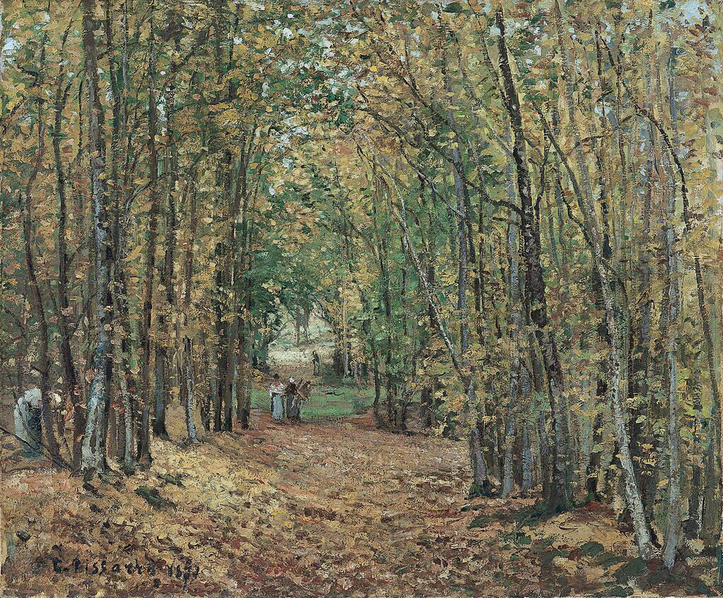The Woods at Marly - Camille Pissarro