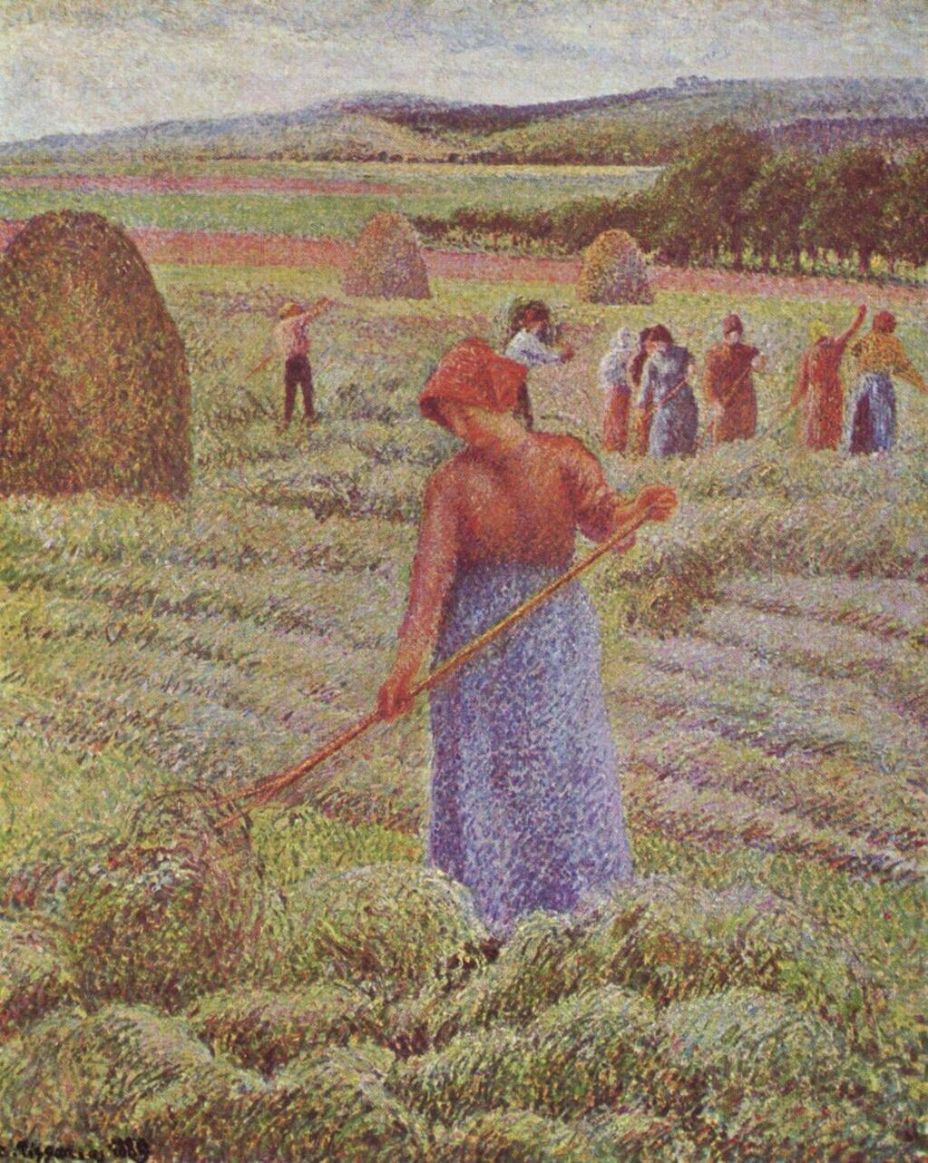 Haying at Eragny - Camille Pissarro