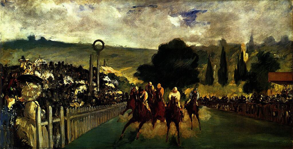 The Races at Longchamp - Édouard Manet