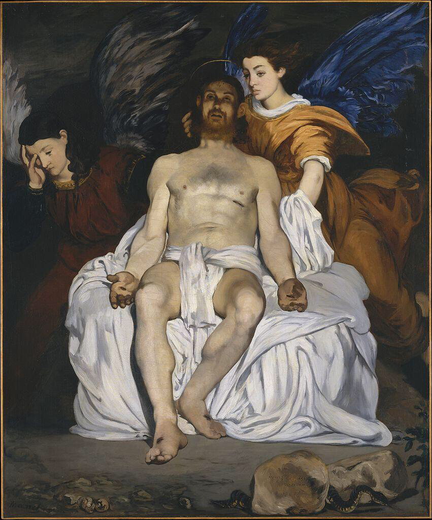 The Dead Christ with Angels - Édouard Manet