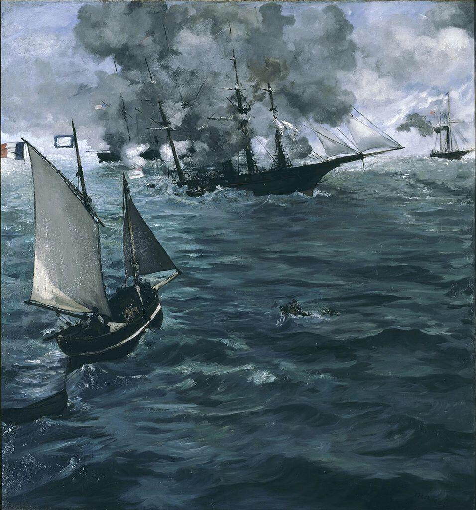 Battle of the Kearsarge and the Alabama - Édouard Manet