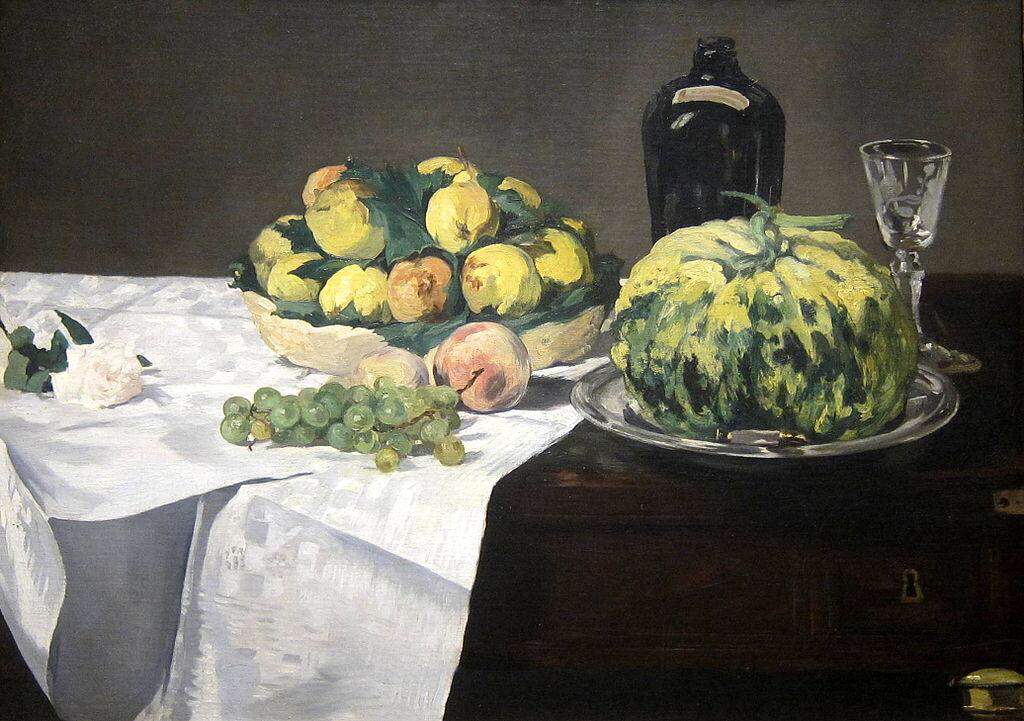 Still Life with Melon and Peaches - Édouard Manet