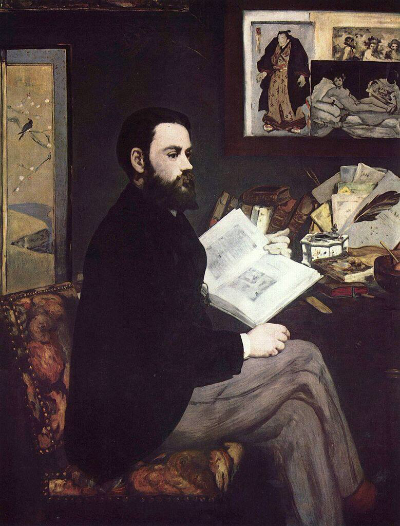 Portrait of Émile Zola - Édouard Manet