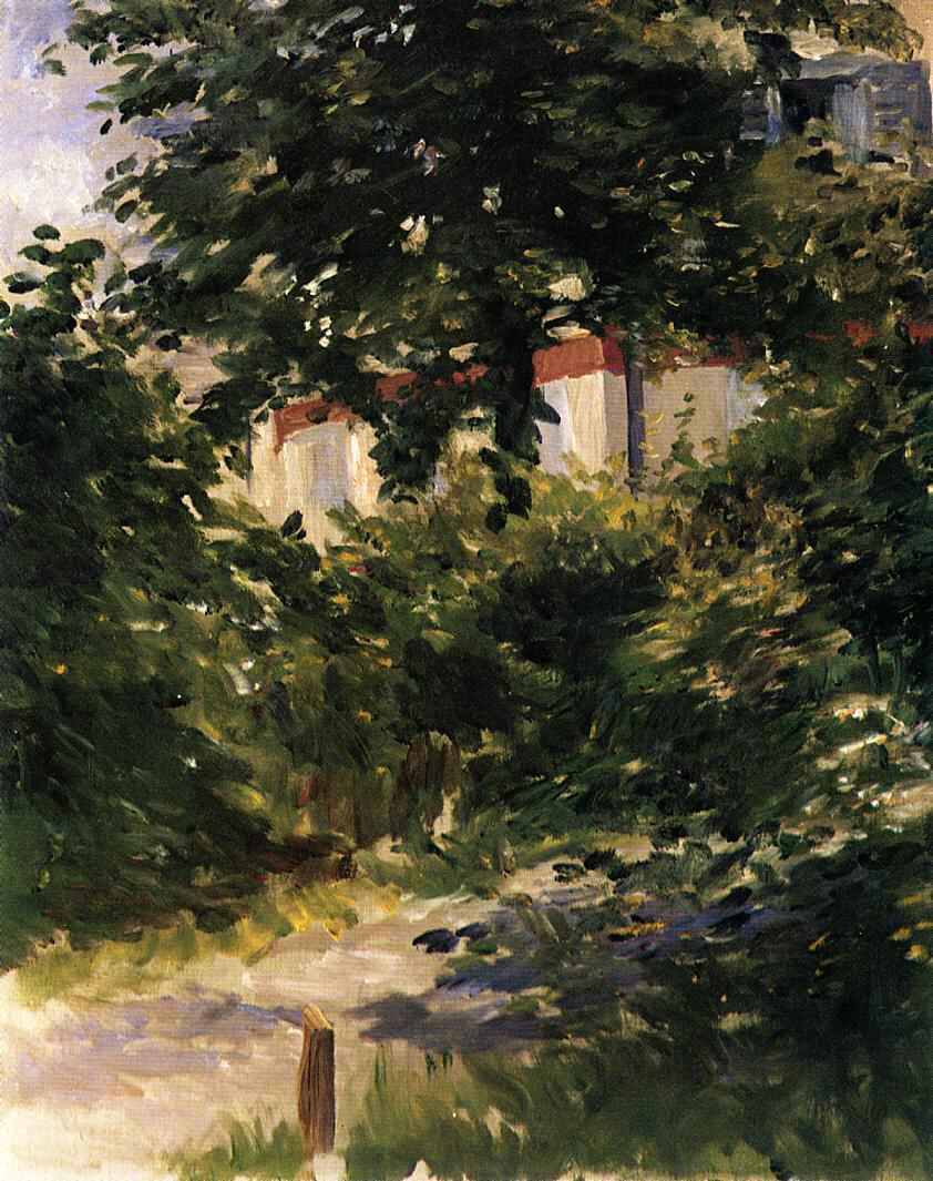 Garden Path in Rueil - Édouard Manet