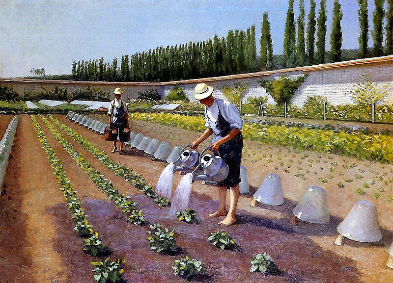 Les jardiniers - Gustave Caillebotte