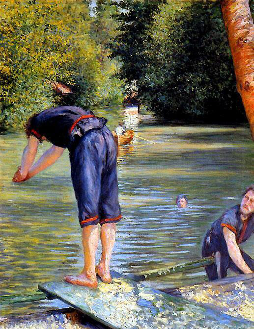 Swimmer preparing to dive - Gustave Caillebotte