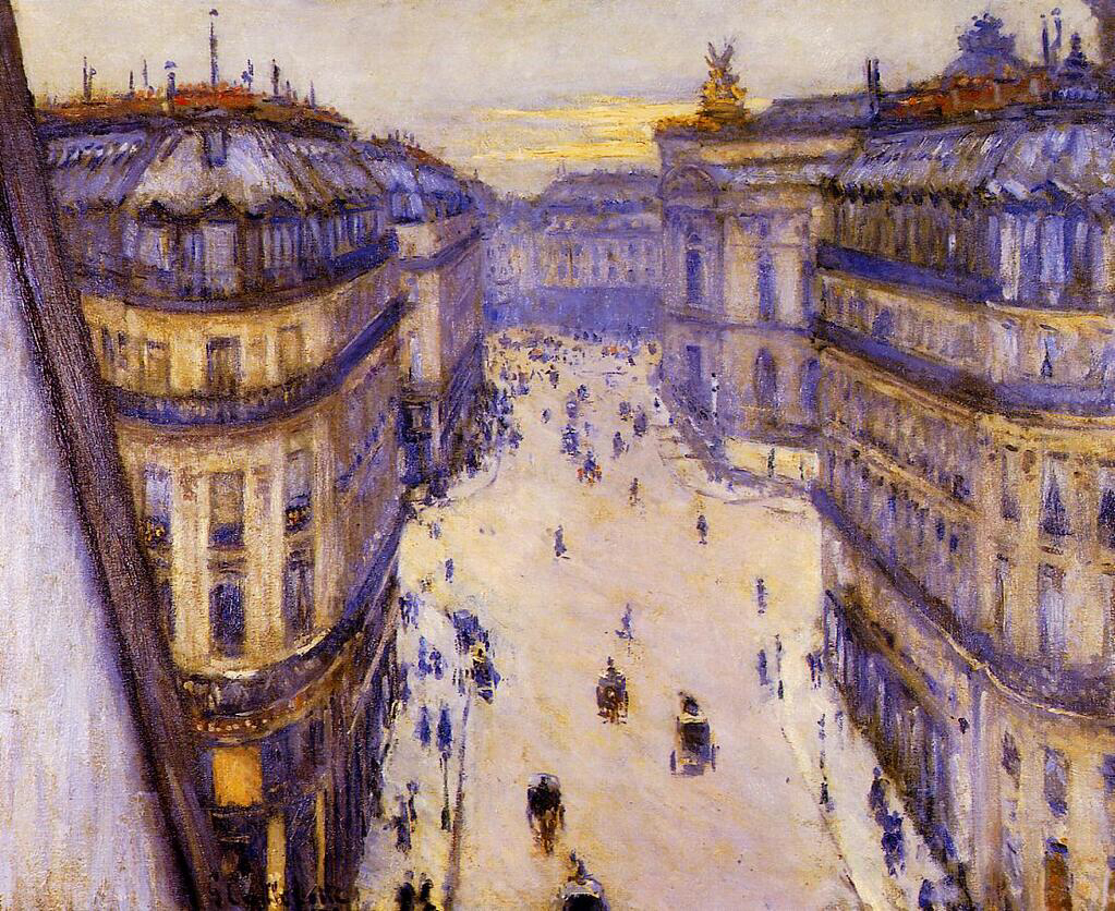 Rue Halévy, From the 6th Floor - Gustave Caillebotte
