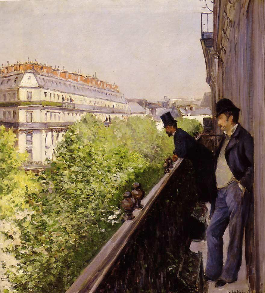Balcony - Gustave Caillebotte