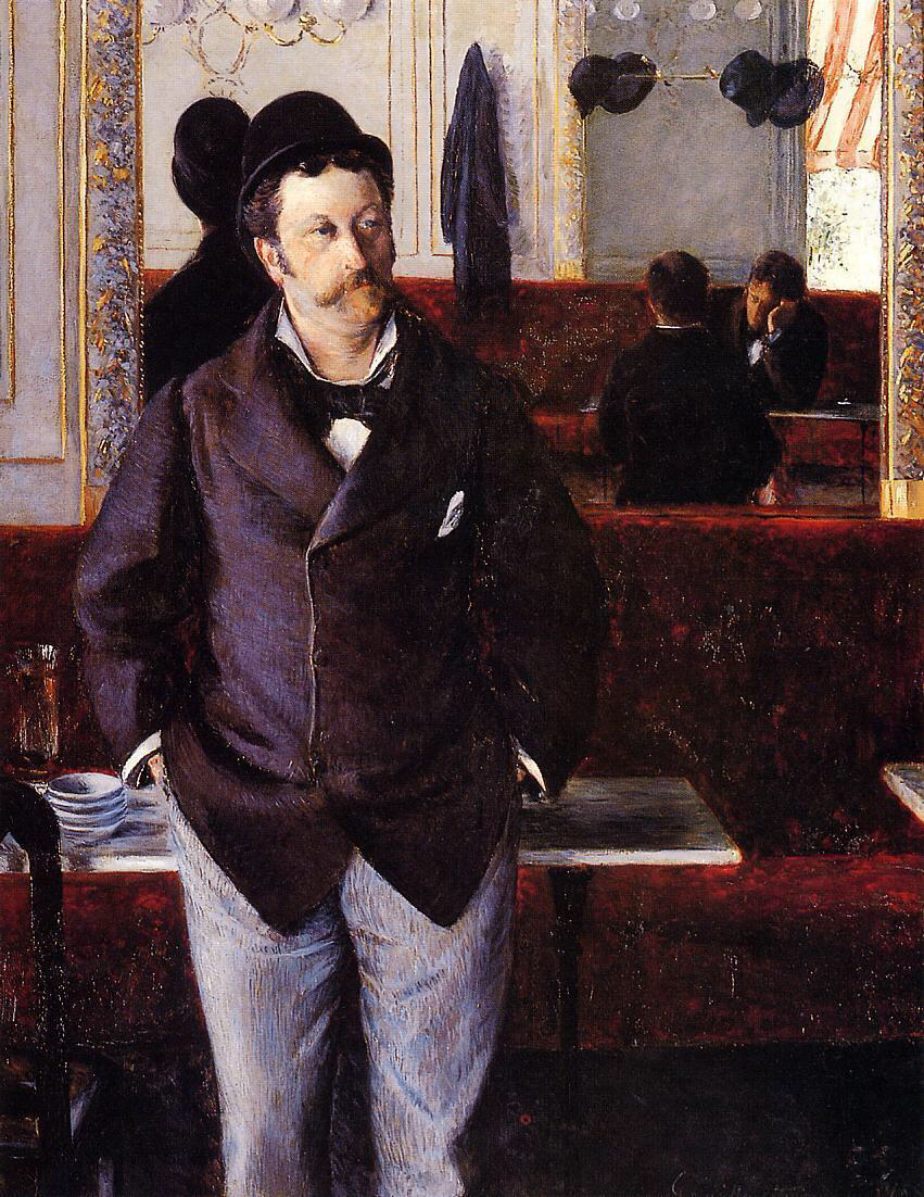 In a cafe - Gustave Caillebotte