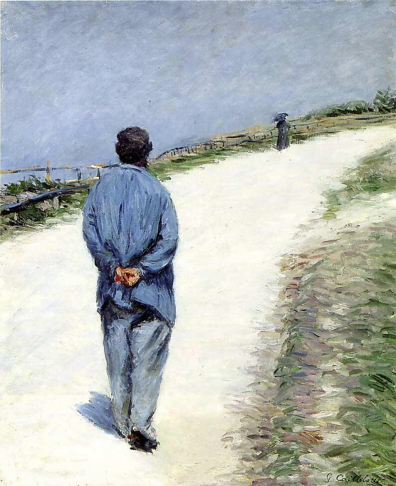 Man wearing a blouse - Gustave Caillebotte