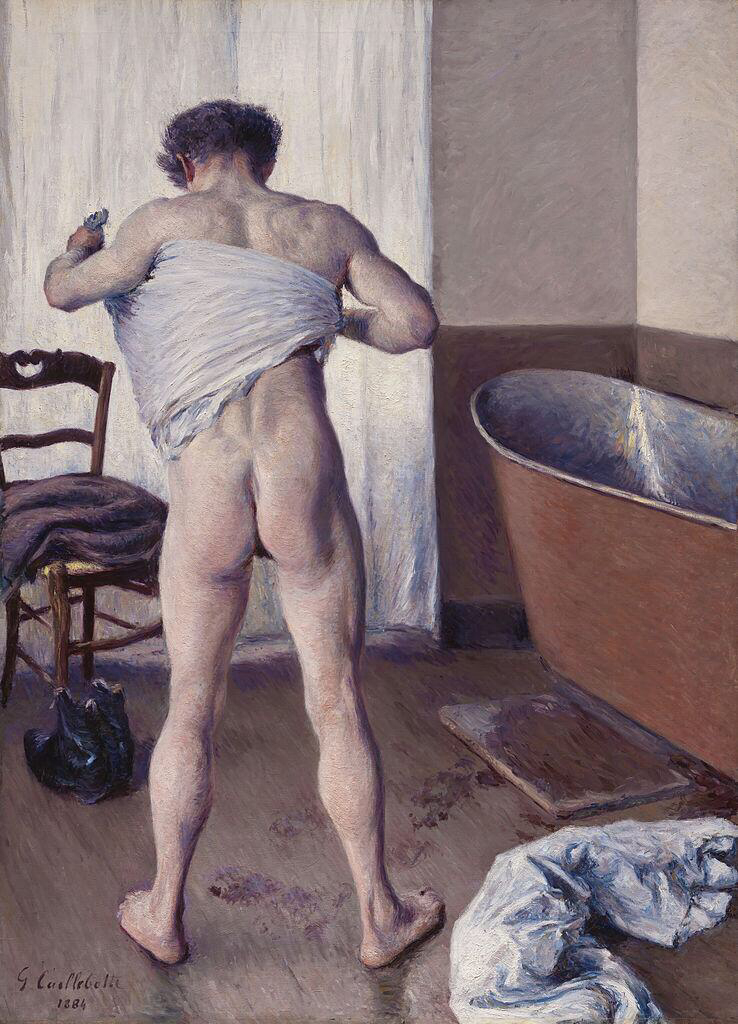 Man at His Bath - Gustave Caillebotte