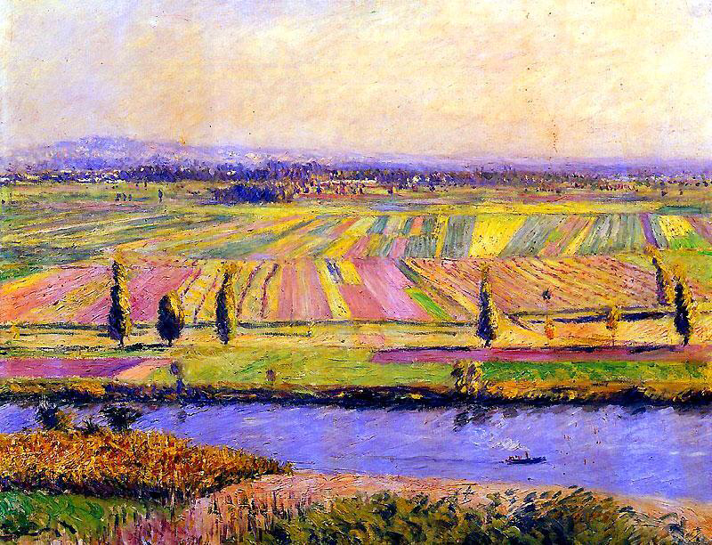 The Plain of Gennevilliers - Gustave Caillebotte