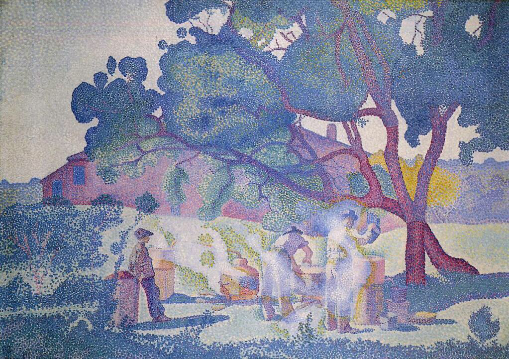 The Farm, Morning - Henri-Edmond Cross