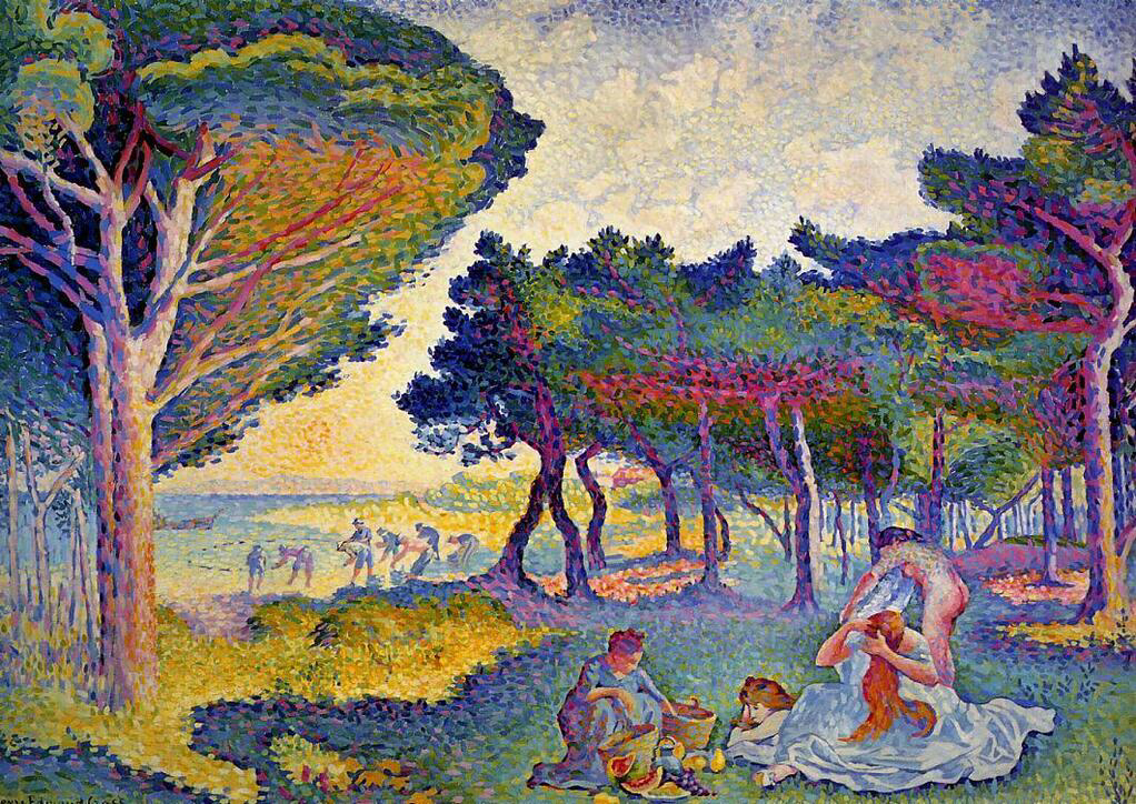 By the Mediterranean - Henri-Edmond Cross