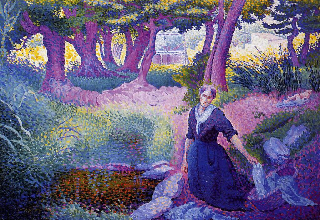 The Washerwoman - Henri-Edmond Cross
