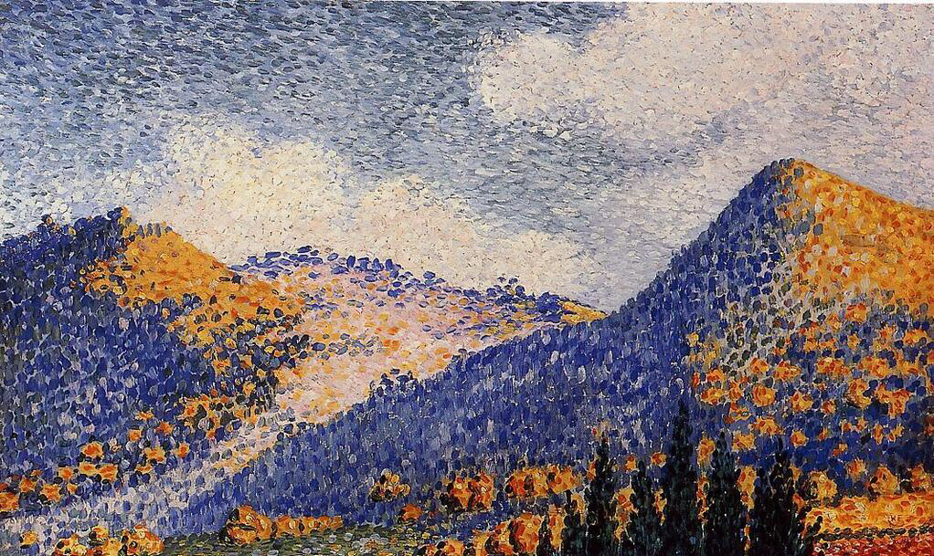 Landscape, the Little Maresque Mountains - Henri-Edmond Cross