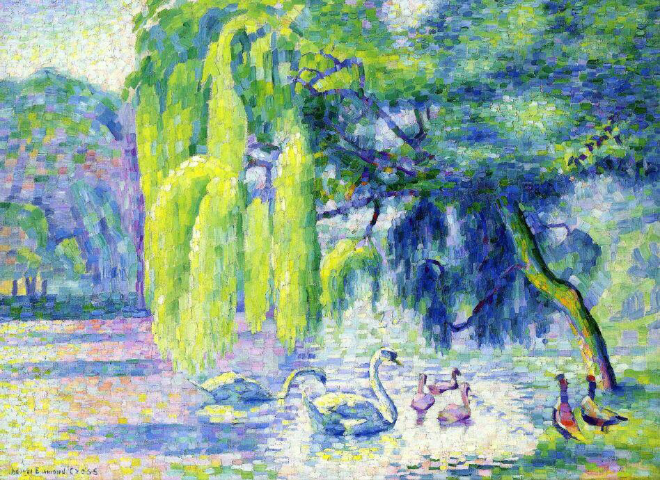 Family of Swans - Henri-Edmond Cross