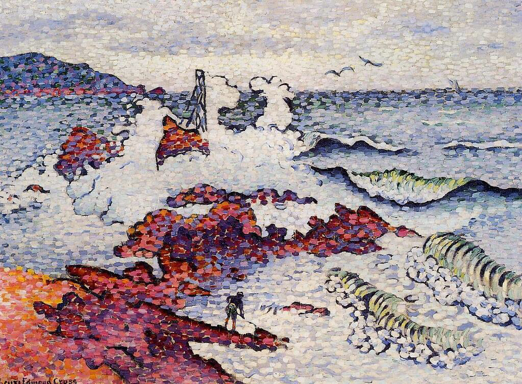 The Mediterranean, East Wind - Henri-Edmond Cross