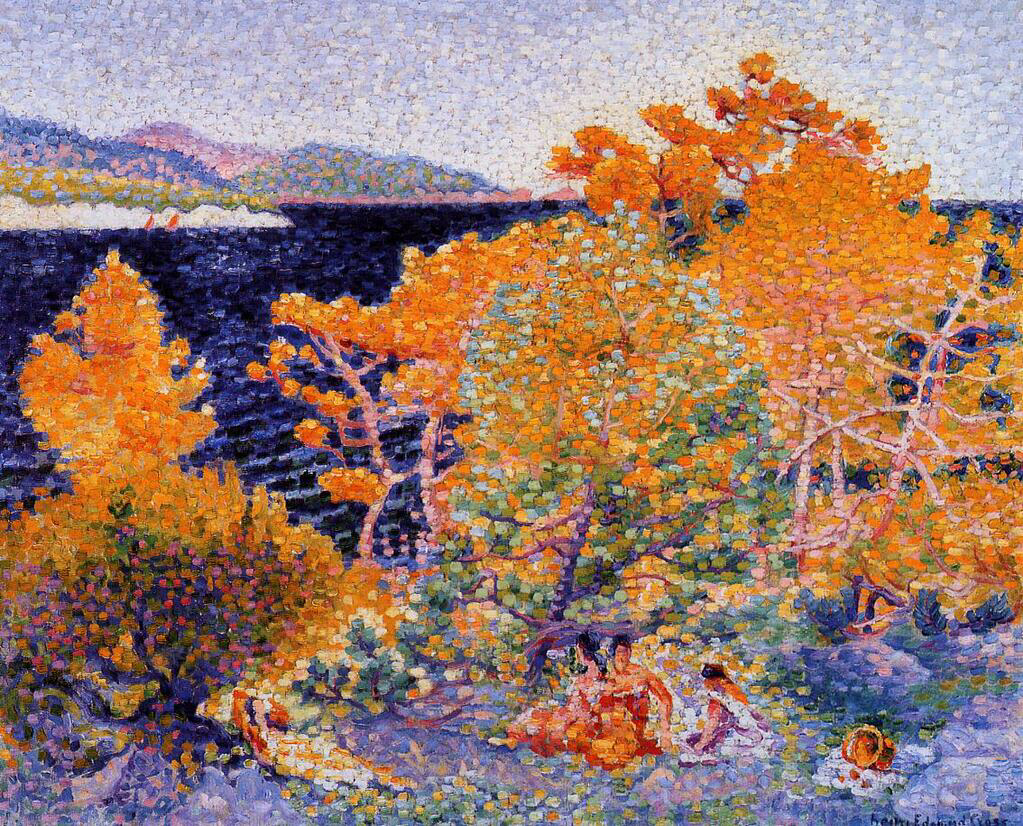 Siesta by the Water - Henri-Edmond Cross