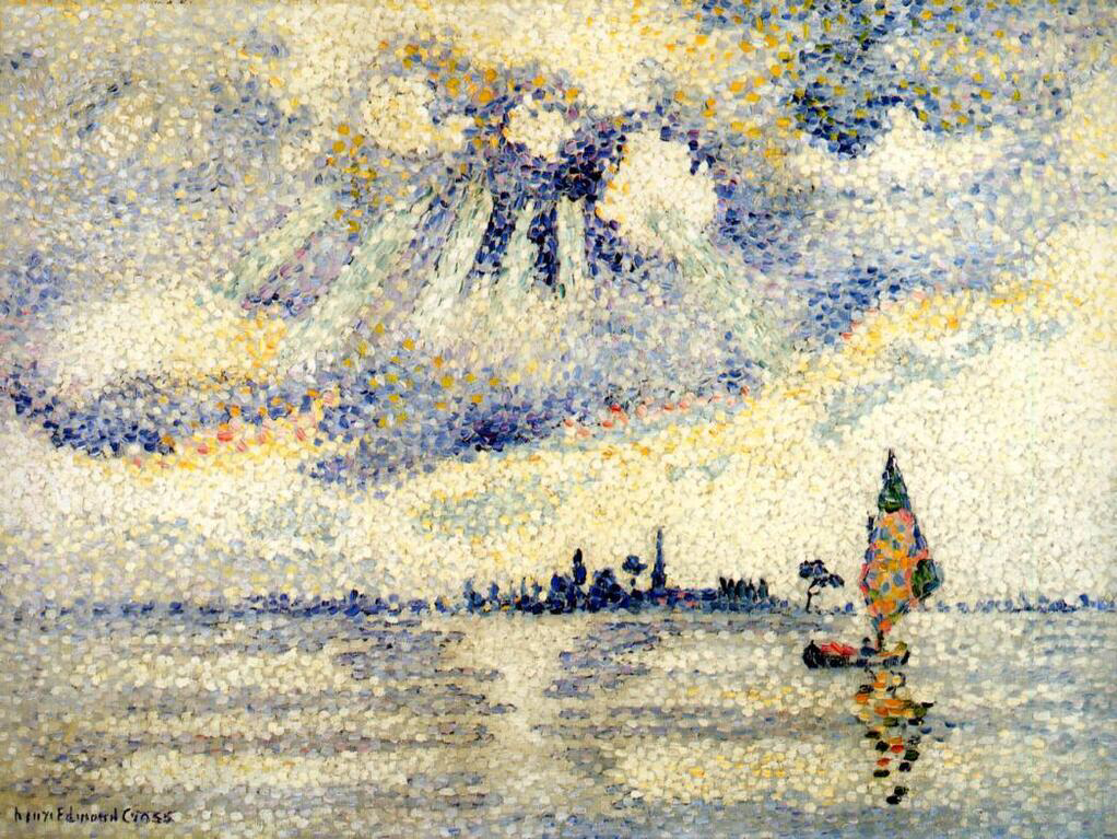Sunset on the Lagoon, Venice - Henri-Edmond Cross