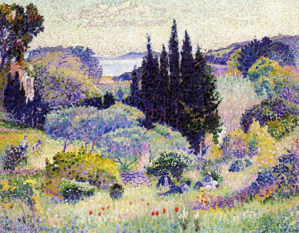 Cypress, April - Henri-Edmond Cross