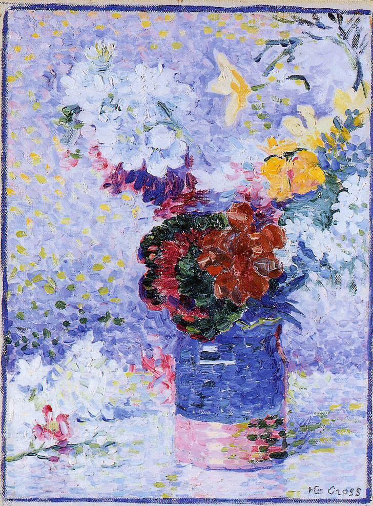 Flowers in a Glass - Henri-Edmond Cross