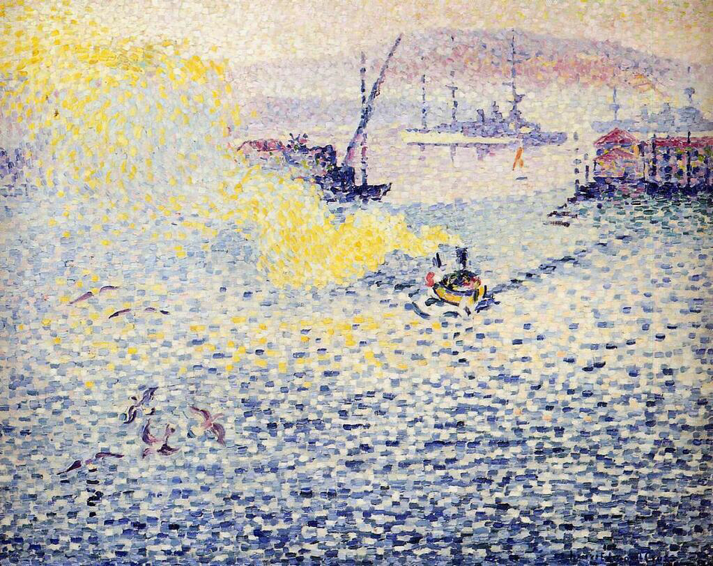 Toulon, Winter Morning - Henri-Edmond Cross