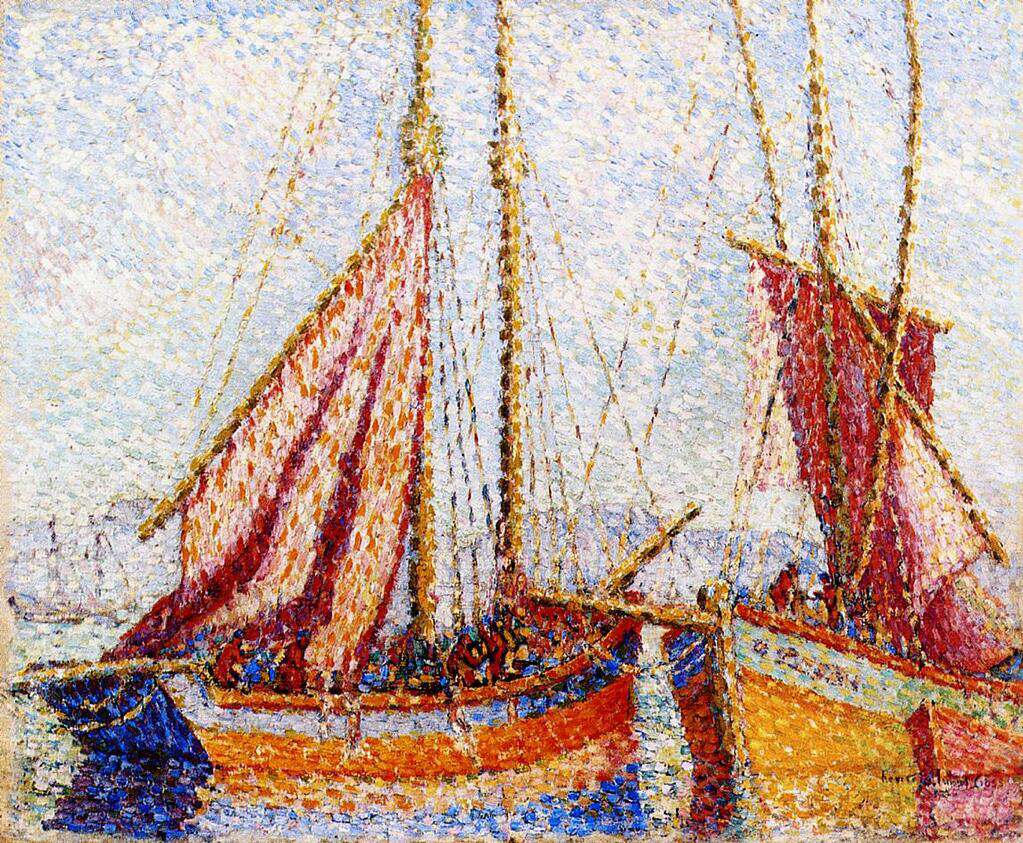 Sailboats - Henri-Edmond Cross
