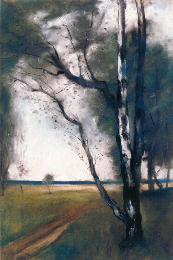 Birches at the Edge of the Forest - Lesser Ury
