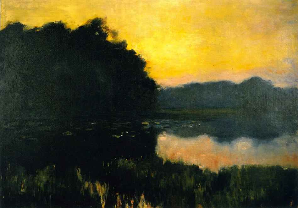 Berlin Seascape in the Evening Light - Lesser Ury