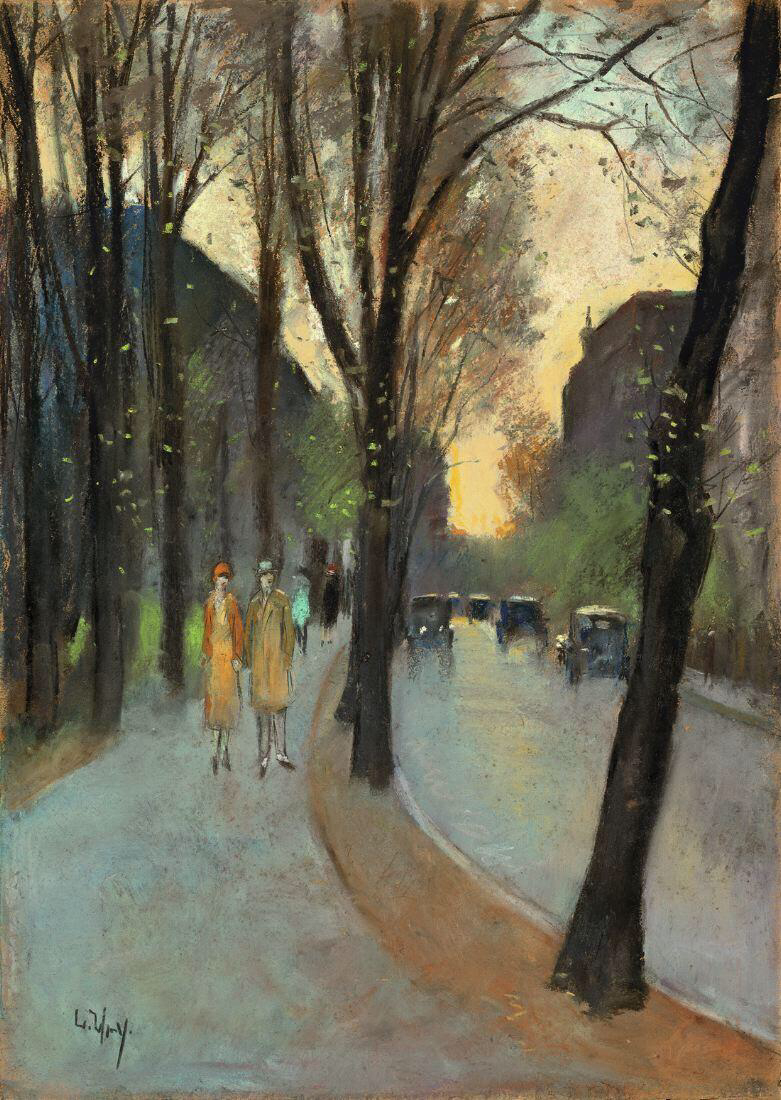 Berlin Street in the early spring - Lesser Ury