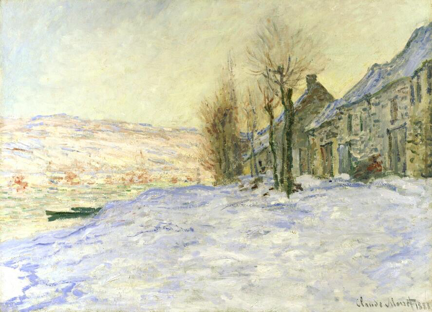 Lavacourt Under Snow - Claude Monet