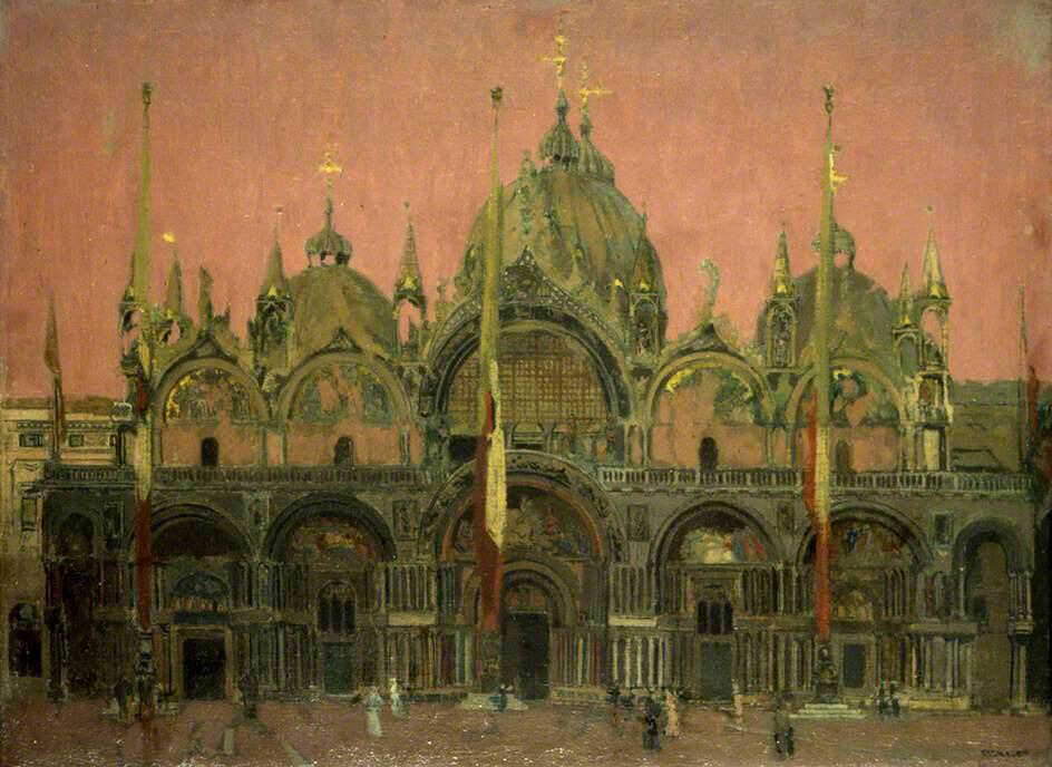 A Red Sky at Night - Walter Richard Sickert