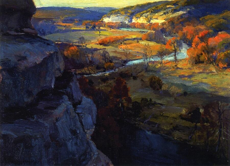 Bluffs on the Guadalupe Riiver - Julian Onderdonk