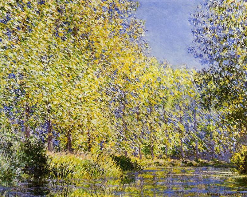 Bend in the Epte River near Giverny - Claude Monet