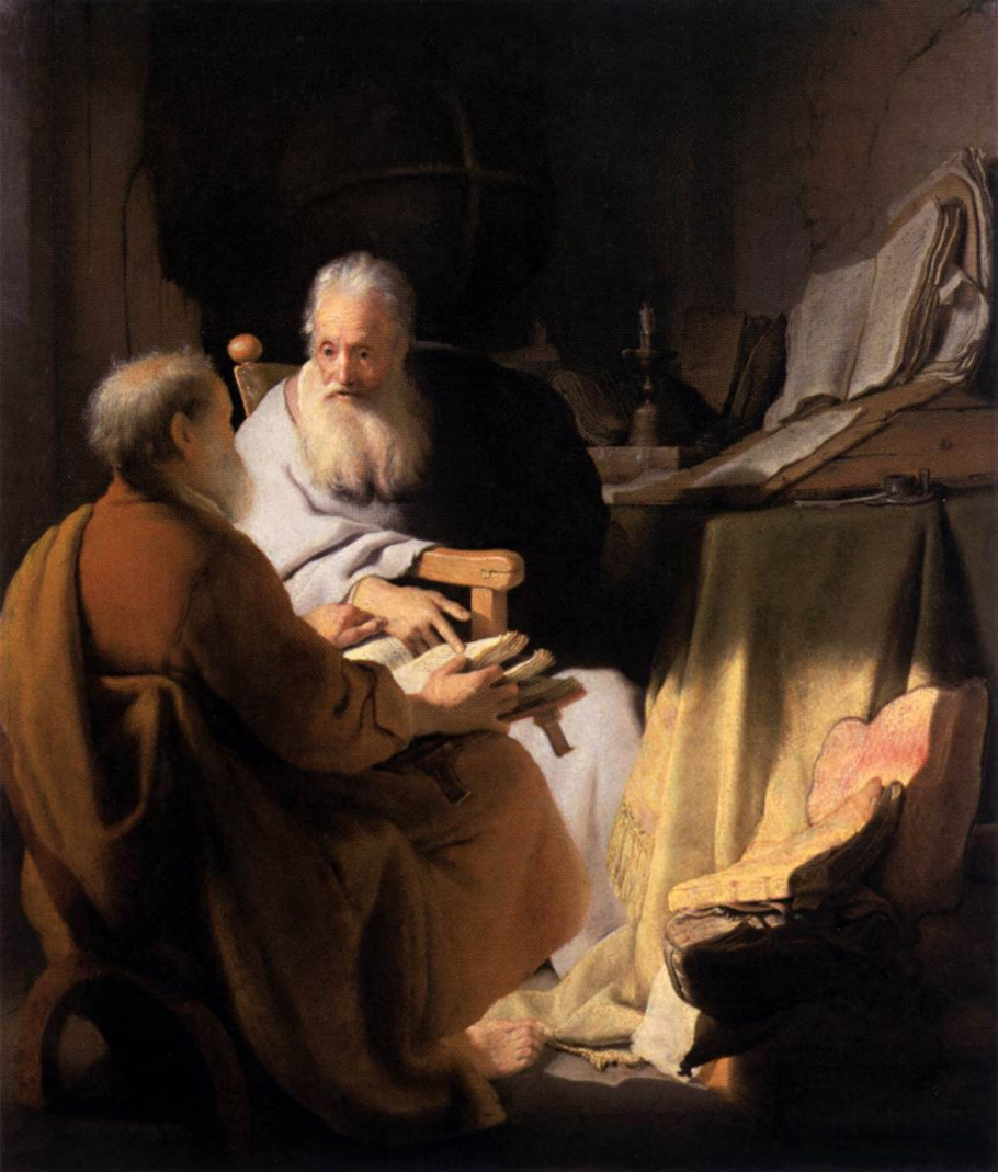 Two Scholars Disputing - Rembrandt van Rijn