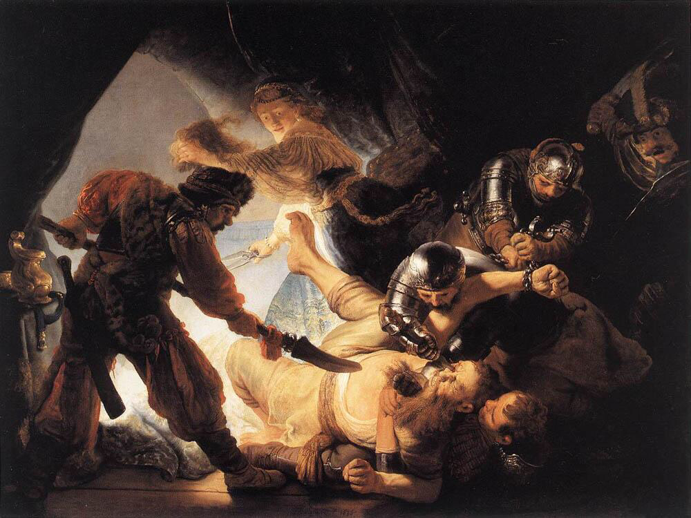 The Blinding of Samson - Rembrandt van Rijn