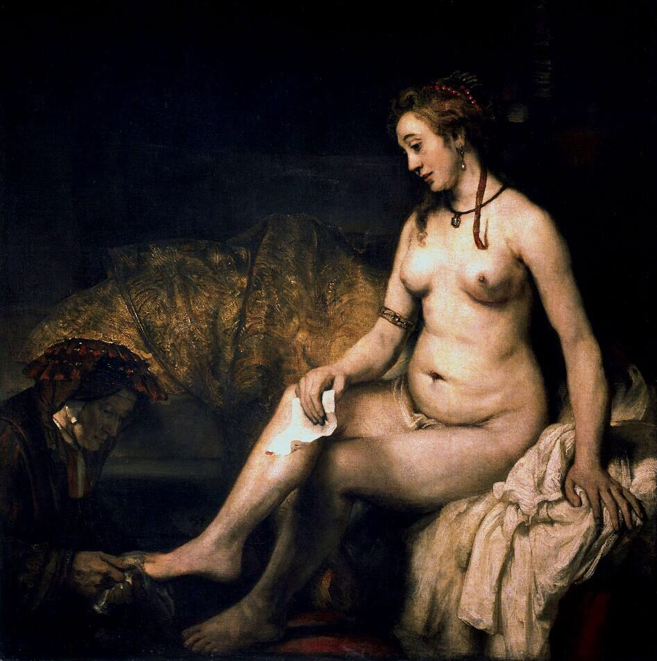Bathsheba at Her Bath - Rembrandt van Rijn